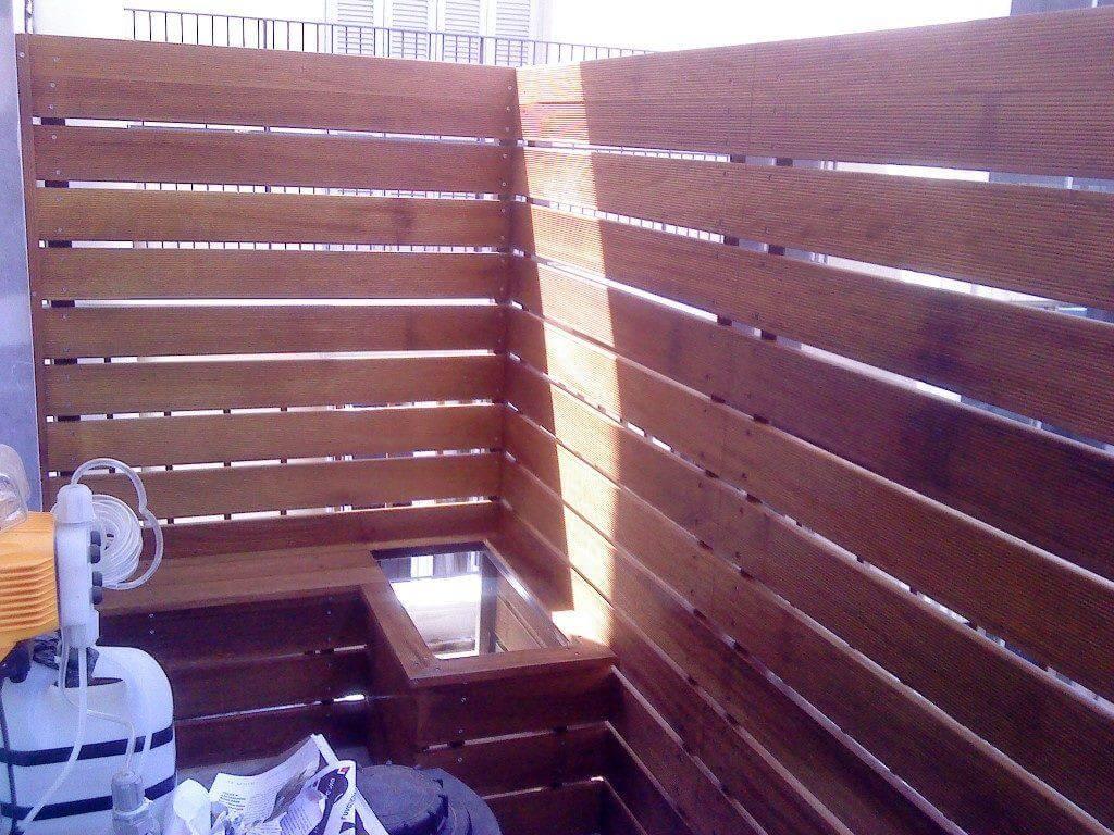 επένδυση μπαλκονιού στη θεσσαλονίκη με ξυλεία deck iroko
