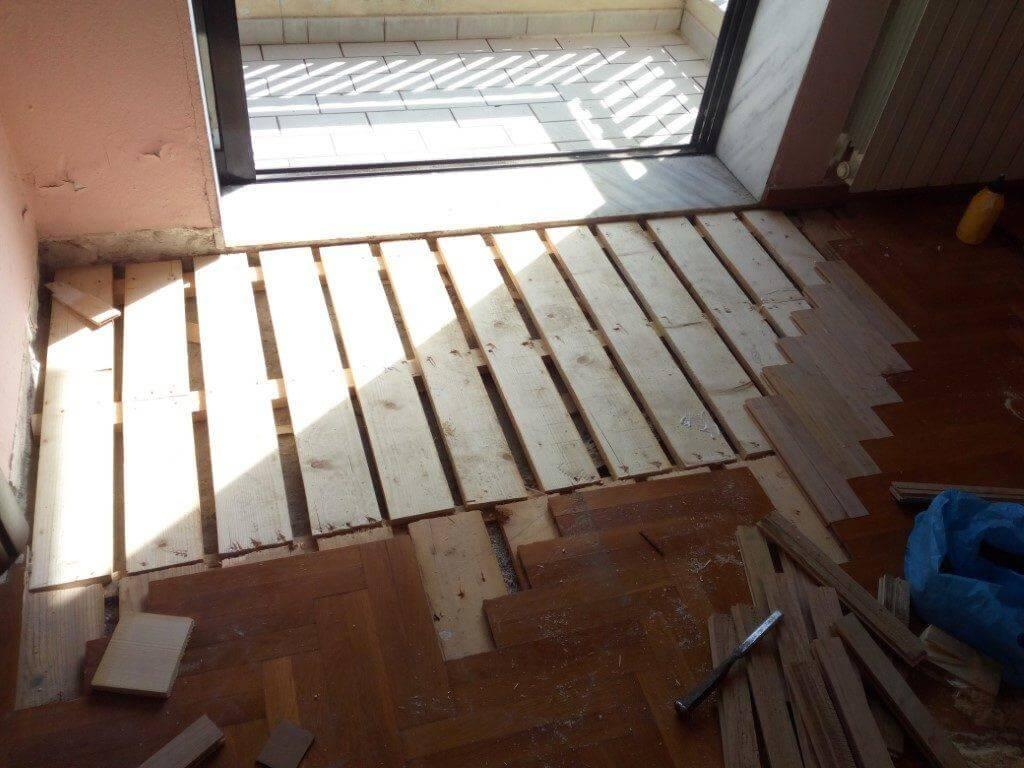 Αλλαγή χαλασμένου ξύλινου πατώματος